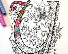 Letter D Zentangle  Inspired by the font