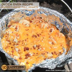 Anytime we get to throw bacon in to a recipe our mouths start watering. This Bacon Cheese Pull Aparts in the dutch oven is easy, tasty and oh so good!