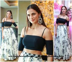 Shipa Reddy in crop top and floral skirt