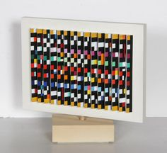 Yaacov Agam Spinning Polymorph Sculpture
