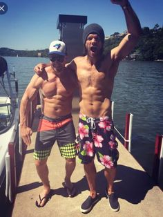 I love that Jared is still wearing a beanie when he's in a bathing suit