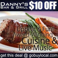 Get $10 OFF Danny's Bar and Grill amazing award-winning cuisine, live music, new brunch menu and more with this #deal! #eatlocal http://gobuylocal.com/offerseo/Stillwater-MN/Danny%27s_Bar_%26_Grill/3358/3477/