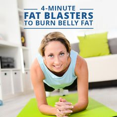 4 Minute Belly Fat Blaster Tabata Song: Speed Demon by Michael Jackson. Belly Fat Burner, Burn Belly Fat, Flat Belly Workout, Fat Workout, Belly Workouts, Abdominal Workout, Belly Exercises, Tummy Workout, Workout Tips