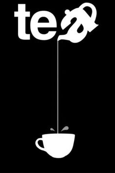 Tea - Pouring from such a great height is only for the most reckless of tea drinkers. Or for those with plastic topped table cloths. So la da di da di we like to tea party ❤️☕⏰ Graphisches Design, Logo Design, Design Ideas, Typographie Logo, Tea Quotes, Tea Time Quotes, Tea Lover Quotes, Plakat Design, Logos
