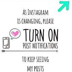 Info :: New Instagram mais leadership turn on post notification to keep  seeing My post