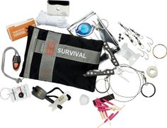 Bear Grylls, the ultimate survivalist has recently teamed up with renowned outdoor gear manufacturers Gerber for a series of survival products. And now Gerber have tucked the essential necessities for survival into this awesome Bear Grylls River Pat Survival Set, Camping Survival, Outdoor Survival, Emergency Preparedness, Survival Skills, Camping Gear, Survival Stuff, Emergency Kits, Survival Equipment