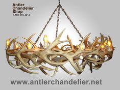 deer+antler+chandelier | XL Antler Chandeliers | Antler Chandelier