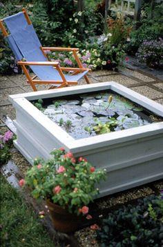 Patio Pond Ideas diy patio pond, enjoy the lifestyle! | garden ponds, clipboards