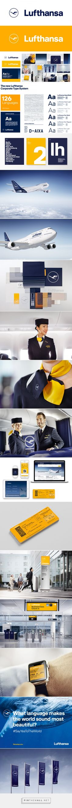 Brand New: New Logo, Identity, and Livery for Lufthansa done In-house in Collaboration with Martin et Karczinski... - a grouped images picture - Pin Them All