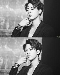 Image about kpop in Park Jimin ft.BTS by Jimin, Bts Jin, Bts Bangtan Boy, Jin Gif, Seokjin, K Pop, Saranghae, Hip Hop, Les Bts