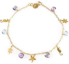 Marie Helene De Taillac Hawaii charm bracelet