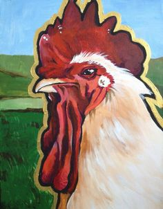 Love this artist's paintings of animals. Such attitude to them, and she sells them so affordably.