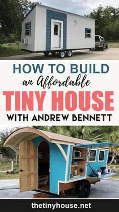 Have you ever felt frustrated that buying a tiny house from a builder costs anywhere from $50,000 and up? Introducing the truly affordable tiny house! Cheap Tiny House, Buy A Tiny House, Tiny House Family, Building A Tiny House, Modern Tiny House, Tiny House Living, Tiny House Plans, Tiny House Design, House Floor Plans