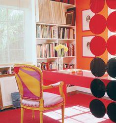 Doug Meyer interior. Miami. Gene Meyer scarf on chair back