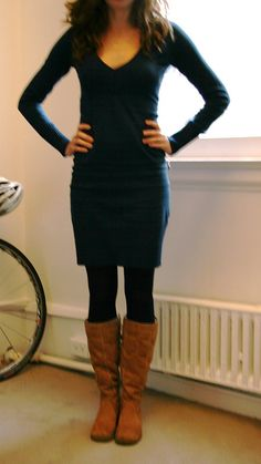 boots with dresses and tights