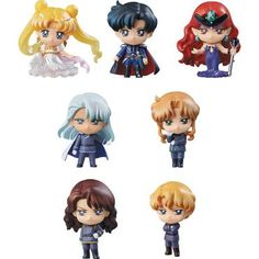 Sailor Moon Dark Kingdom Petit Chara Mini Figures Figure Set of 7