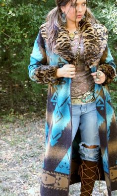 turquoise and leopard= yes please!