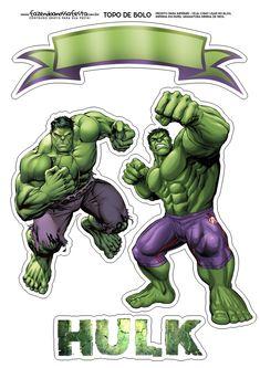 Uau! Veja o que temos para Topo de Bolo Hulk