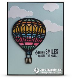SNEAK PEEK & VIDEO: Lift Me Up & Away Hot Air Balloon Card | Stampin Up Demonstrator - Tami White - Stamp With Tami Crafting and Card-Making Stampin Up blog