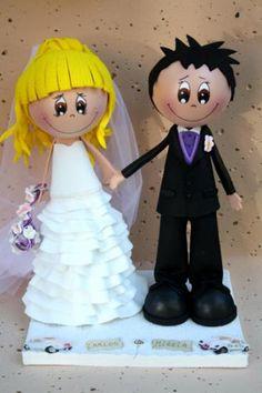 Novios para tarta de boda
