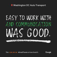 Another wonderful 5 star review ⭐⭐⭐⭐⭐ #autotransport #cartransport #WashingtonDC #WashingtonDCAutoTransport