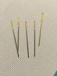 Gold Needles and Stretcher Bars  Gold Needles and StretcherBars  Gold needles have been a topic of discussion on Tumblr lately so last month I went into town and picked up two packs of four thinking these things would last me until the end of time. I have to say though: Im not impressed.  Out of the packaging these things are great though. I tend to use size 18 tapestry needles (which is the size I bought this time as well) and they slide easily even  View On WordPress