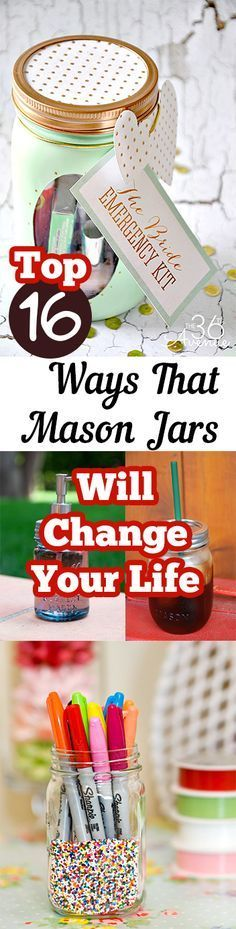 Top 16 Ways That Mason Jars Will Change Your Life. DIY, DIY home projects, home décor, home, dream home, DIY. projects, home improvement, inexpensive home improvement, cheap home DIY.