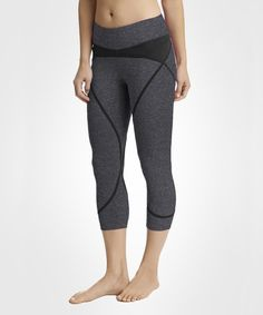 This Phantom Heather & Black Solstice Capri Leggings is perfect! #zulilyfinds