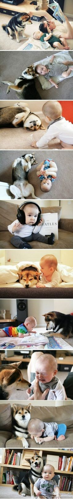 baby & dog~ oh my goddddd, the most precious thing everrrrrrrrr