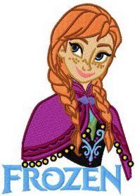 Anna Frozen 6 machine embroidery design. Machine embroidery design. www.embroideres.com