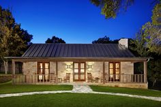Hill Country Retreat Farmhouse Exterior Houston In Texas Hill Country Ranch Style House Plans