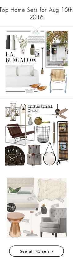 """""""Top Home Sets for Aug 15th, 2016"""" by polyvore ❤ liked on Polyvore featuring interior, interiors, interior design, home, home decor, interior decorating, Quorum, Olympia, LSA International and Minimal"""