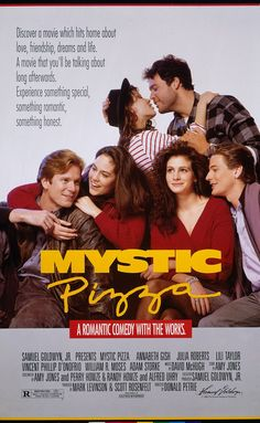 MYSTIC PIZZA: Directed by Donald Petrie. With Annabeth Gish, Julia Roberts, Lili Taylor, Vincent D'Onofrio. Three teenage girls come of age while working at a pizza parlor in the Connecticut town of Mystic. 80s Movies, Great Movies, Film Movie, Girly Movies, Imdb Movies, Comedy Movies, Annabeth Gish, Little Dorrit, Bon Film