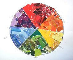 Color Wheel Collage, could cut colors from magazines and glue in right place to help learn colors.