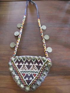 vintage indian beaded necklace by shopgypsyriver on Etsy, $65.00