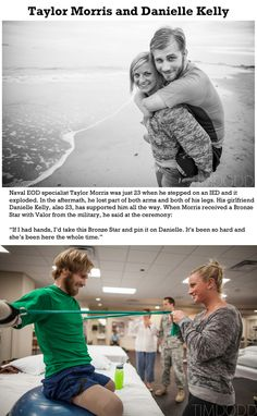 Brings tears to my eyes.  God bless our soldiers and the strong women behind them.
