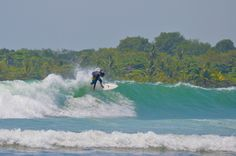 Surfing in Quepos, Costa Rica. Done it. #paradiseawaits http://www.discoverybeachouse.com/