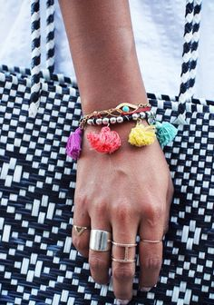 fringed bracelets - inspiration