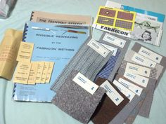 Complete reweaving study course (kit) - with needles, reweaving tools, sample weaves and  pamphlets