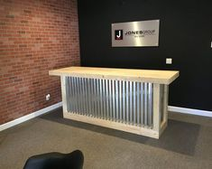 This The Counter Sr. - 8 foot corrugated metal bar, sales counter, reception desk is just one of the custom, handmade pieces you'll find in our home décor shops. Buffet En Plein Air, Barn Wood, Rustic Barn, Rustic Wood, Barn Tin, Store Counter, Counter Counter, Cash Wrap Counter, Patio Bar