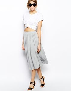 grey skirt asos