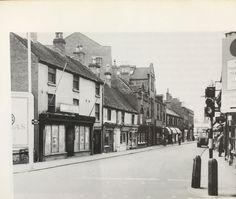 Burton on Trent, Looking down High Street Burton On Trent, Derby, Saints, Street View