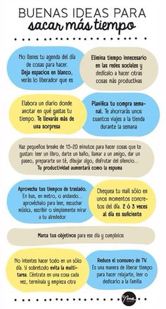Muy buenas ideas ~ how many can you figure out? (Without using a translator app?