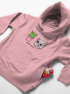 """""""You're Next: Evil Cat and House Plant"""" Toddler Pullover Hoodie by grumblebeeart 