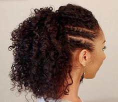 pony hairstyle for curly hair