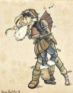 pop! ~ HTTYD2 fan art sketch of Astrid & Hiccup in flight suit ~ LOL | by sheepSkeleton on DeviantArt