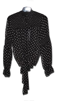 Elegant, Polka Dot Top, Women Wear, Fashion, La Mode, Cashmere, Blouse, Black, Curve Dresses
