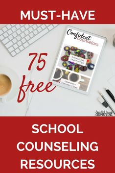 75 Free School Counseling Resources - Confident Counselors School Counselor Lessons, School Counseling Office, Elementary School Counselor, Career Counseling, Counseling Psychology, Elementary Schools, School Counselor Organization, Professional Counseling, School Counsellor