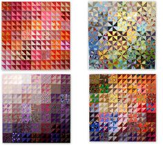 HSTs by Linda Rotz Miller Quilts & Quilt Tops, via Flickr