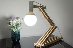 Tu Organizas.: Minha luminária de madeira DIY